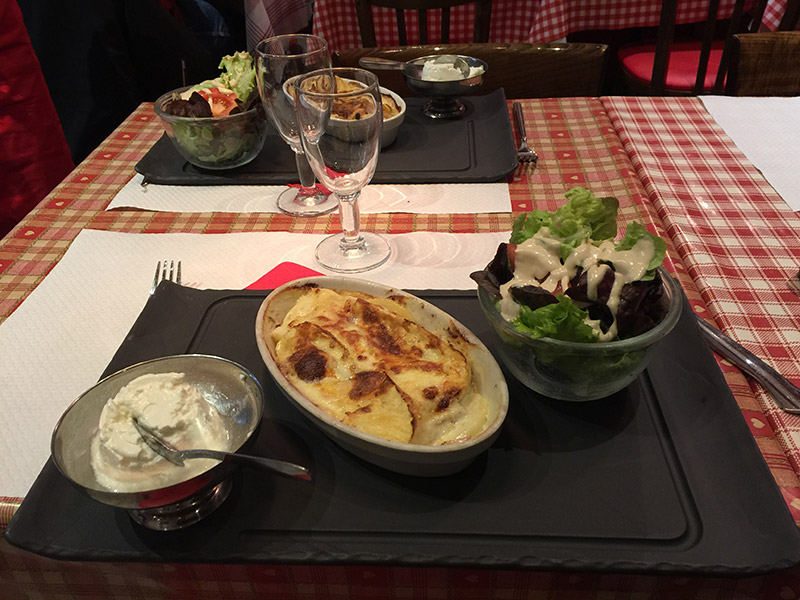 Menu Savoyard Les Alpages Restaurant Annecy